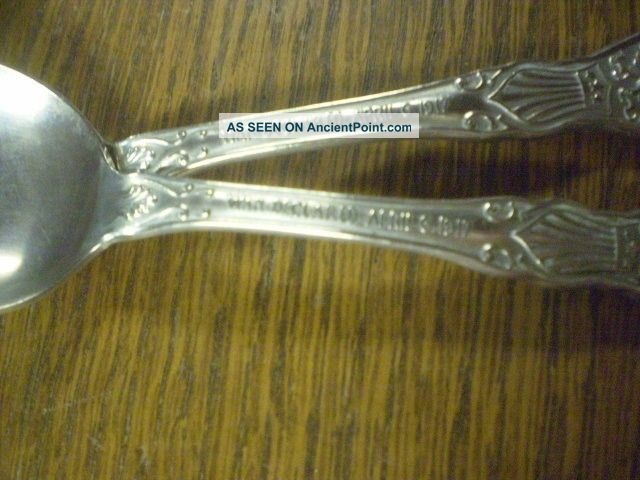 2 Ww I Commemorative Spoons Silver Plate Vintage Estate Find Other photo