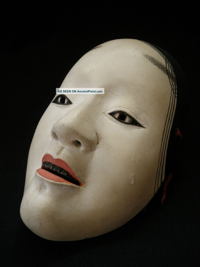 Wooden Noh Mask Japanese Ko - Omote Woman ■■■ Kagura Kyogen■■ Masks photo