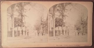 1870s Centre Street,  Nantucket,  Massachusetts Stereoview Kilburn Brothers photo