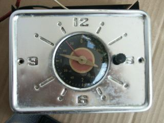 Vintage Wedgewood Monterey Gas Stove Parts Clock And Hood Light Chromed photo