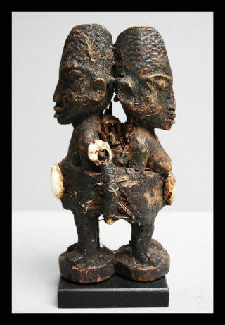 A Finely Carved Twin Power Object Fon Tribe Of Benin photo