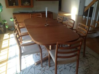 Modern Mid Century Danish Inspiration J L Moller Dining Set photo