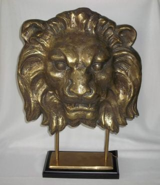 Vintage Solid Brass Lion Head 12