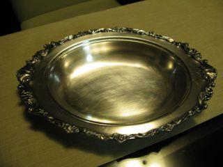 Vintage Sheridan Silver Plate Ornate Oval Serving Bowl photo
