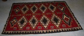 Antique Navajo Indian Trading Rug Circa 1900 photo