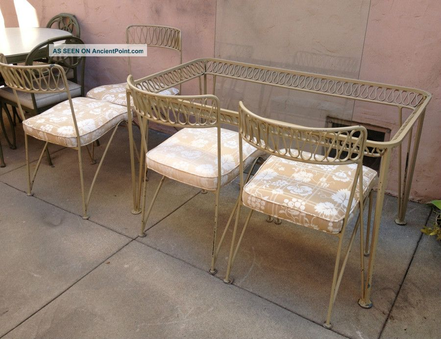 Perfect Ribbon Series Wrought Iron Dining / Patio/ Garden Table And 4 Chairs  900 x 692 · 116 kB · jpeg