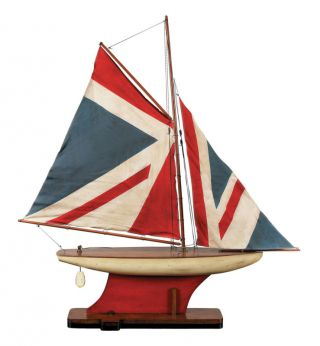 British Navy Union Jack Flag Pond Yacht Model 31