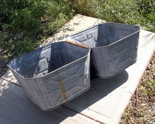 Antique Vintage Wash Tubs With Drains For Ice Beer Soda Party Cooler Very Good photo