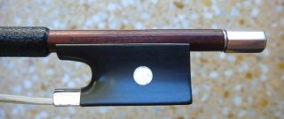 Very Old Violin Bow Albert Nurnberger Silver Mounted 60gm Geige Bogen photo