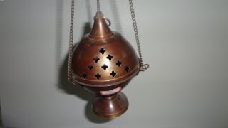 Tibetan Brass Copper Hanging Incense Burner 36113 photo