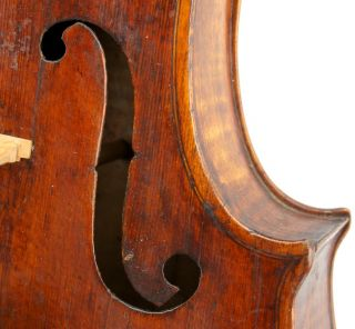 Very Old,  Antique 18th Century Concert Violin,  Grafted Head,  Tone photo