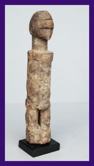 A Deeply Encrusted And Old Baule Tribe Altar Figure From Ivory Coast photo