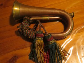 Bugle 1883 Dated African/boer Period.  H Potter London Made Foundwest Australia photo