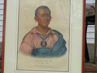 1838 Colored Lithograph Wat - Che - Mon - Ne An Ioway Chief Fw Greenough - Philadelphia photo