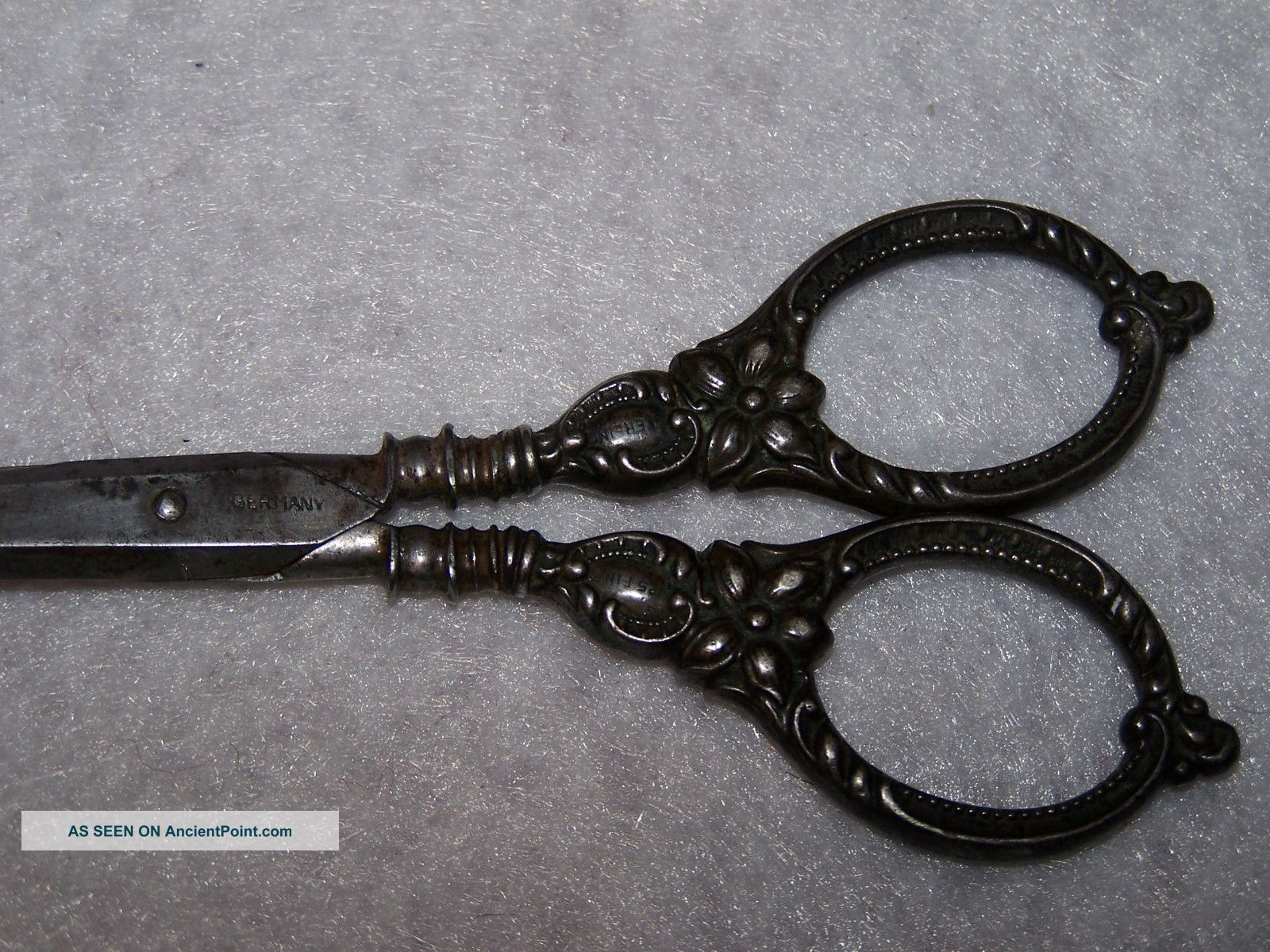 German.  925 Sterling Silver Scissor Embroidery Sewing,  R M & Co - Floral & Scroll Other photo