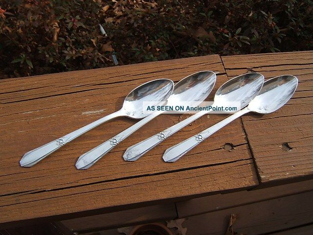 4 International R&b Manor Plate Festival Teaspoons 1938 Lota International/1847 Rogers photo