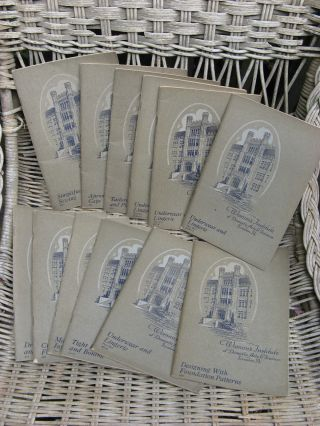 12 Antique Sewing Booklets