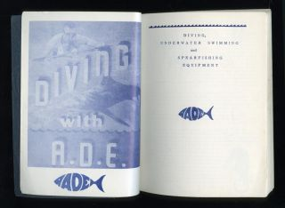 1954,  Diving With A.  D.  E. ,  Diving,  Underwater Swimming And Spearfishing Equipment photo