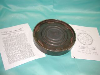 Air Su Lated Gas/ Oil Stove Burner Cover Protective Ring 1929 West Bend Patent photo