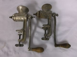 Of 2 Vintage Universal Meat Grinders No.  1 & 2 photo