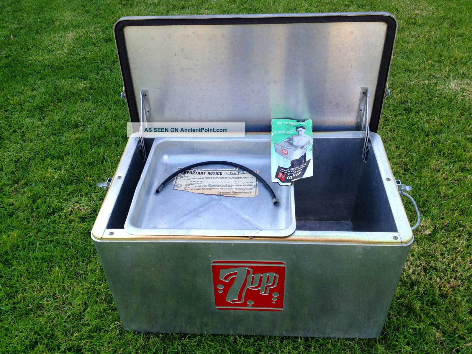 Vintage Ice Box 7up Model 13 - Shm - 7up Cooler Minneapolis,  Mn.  By Cronstroms Ice Boxes photo