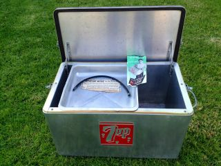 Vintage Ice Box 7up Model 13 - Shm - 7up Cooler Minneapolis,  Mn.  By Cronstroms photo