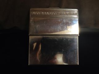 Tiffany Sterling Silver Business Card Holder,  Case.  Stamped: 2004 Tiffany & Co 925 photo