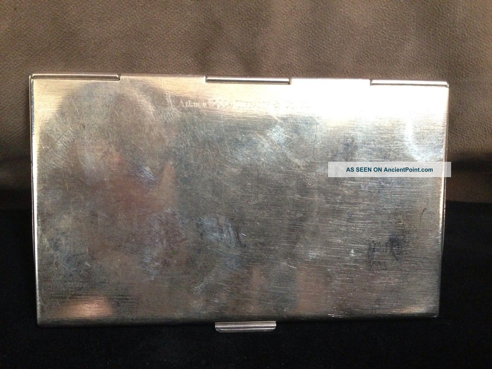 Tiffany Sterling Silver Business Card Holder, Case. Stamped: 2004 ...