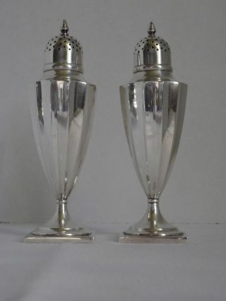 Tiffany & Co Sterling Silver Salt & Pepper Shakers Art Deco 925 - 1000 4.  5