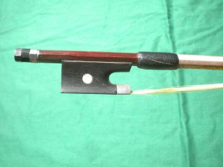 Old /antique Violin Bow Silver Mounted Frog photo