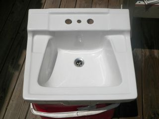 1962 Gerber Wall Mount Porcelain Sink With Mounting Bracket. photo