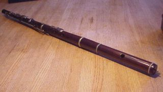 Antique 19th Century Euler Frankfurt A/m Rosewood Flute Unrestored photo