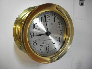 Vintage Seth Thomas Ships Clock Polished And Lacquered Working Condition photo