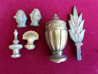 Old Finials Solid Brass Fittings (5) And In photo