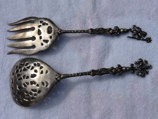 Antique Fork And Spoon Silver Plated Set For Italy photo