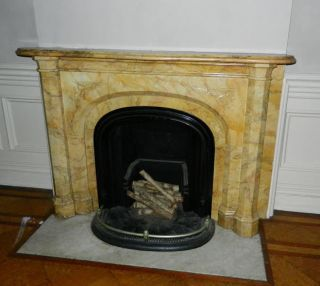 Unusual Sienna Marble Mantel - From Prestigious Nyc Home 1850 ' S photo