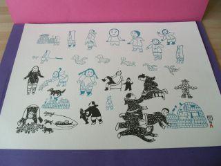 7 Inuit Prints For Framing Kenojuak Ashevak Circa 1980 With Provenance photo
