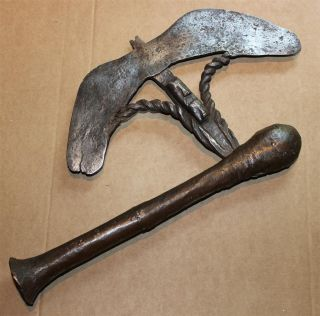 Congo Old African Axe Anciene Hache Afrique Bijl Songye Afrika Africa Kongo Bijl photo