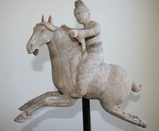Tang Dynasty Polo Player With Oxford Tl Test photo