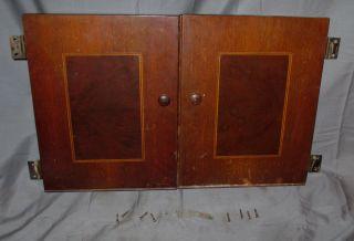 Antique Vintage Walnut Singer Electric Sewing Machine Cabinet No 47 Doors 15 - 91 photo