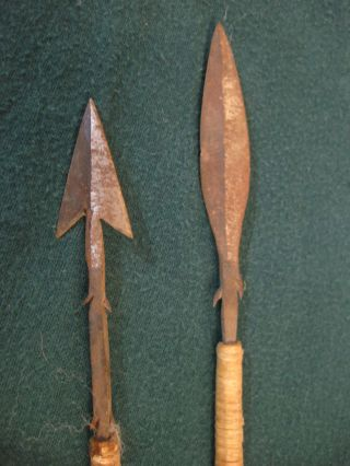 2 Vintage Antique African Zulu Arrows photo