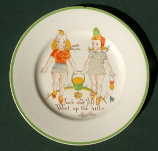 Ca 1950s Jack & Jill Plate Designed By Peggy J Gibbons - Made By Midwinter England photo