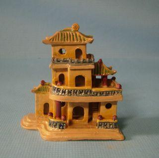 Antique Rare Miniature Mudman Chinese Mansion 1920 To 1040 S 2 U photo