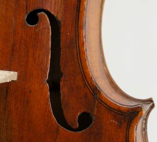 Interesting,  Old,  Antique Violin,  C.  1800,  Grafted Head,  Well Set - Up - Ready To Play photo
