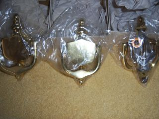 Set Of 3 Gold Colored New Door Knocker & Hardware Still Sealed With Boxes photo