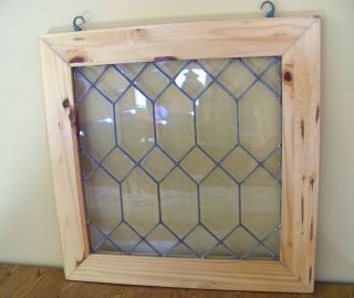 Vtg Leaded Glass Window 23 - 3/4