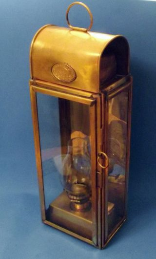 Antique Ship Nautical Lantern / Lamp - Ca.  1900 - Wm.  Harvie - England - Rare photo