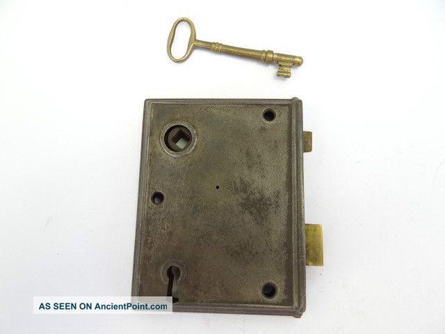 Old Deadbolt Locks Brass Door Deadbolt Lock