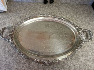 Wallace Silversmith Silver Platter W Since 1935 Symbol Of American Craftsmanship photo