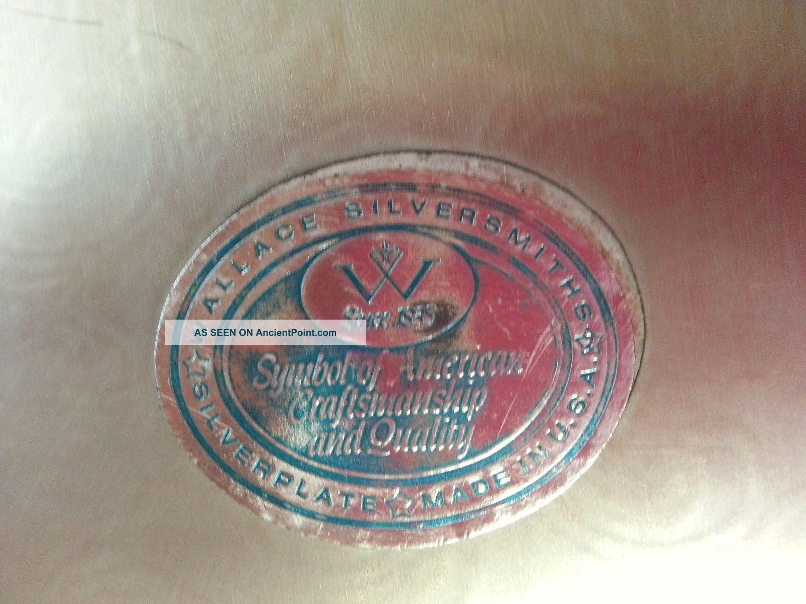 Wallace silversmith silver platter w since 1935 symbol of american wallace silversmith silver platter w since 1935 symbol of american craftsmanship biocorpaavc Choice Image